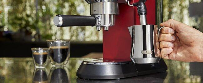 détail machine à café manuelle de'longhi dédie