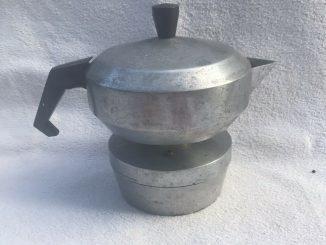 RARE POT À CAFÉ ANTIQUE Dans Machine À Café En Aluminium Grand Design Vintage - 60,00 EUR