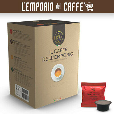 100 Capsules Caffe Dell'Emporio Compatible Lavazza Signature Blend Strong Red