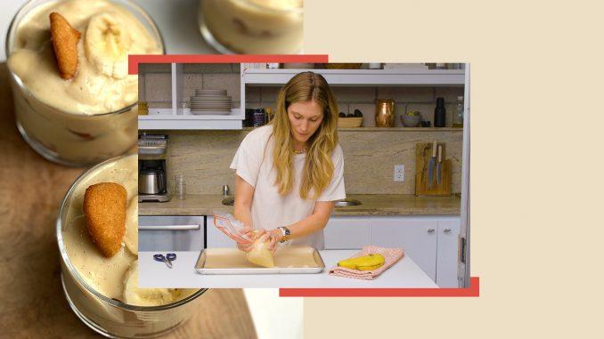 Cette recette de pouding aux bananes sans gluten est également faible en sucre