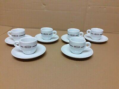 Lot de 6 tasses et soucoupes à café Moca torréfaction de café Roma no illy paulista lavazza