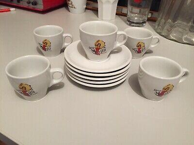Tasses à Café Publicitaires Mexico Bologne Set 5 Et 5 Signées Weidmann