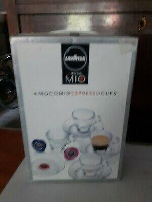 LAVAZZA COFFEE A Modo Mio SERVICE 4 tasses avec soucoupe en verre + boîte