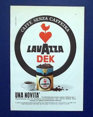 A718-Publicité Publicité-1962-CAFFE 'LAVAZZA DEK