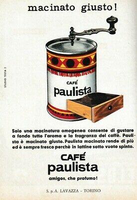 Publicité 1961 Moulin à café Paulista Lavazza Design Studio Testa