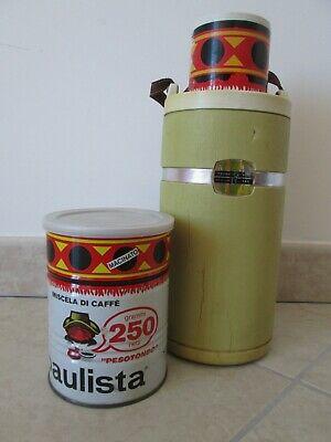 Lot de gadgets publicitaires Paulista Lavazza boîte de café Thermos Carosello années 70