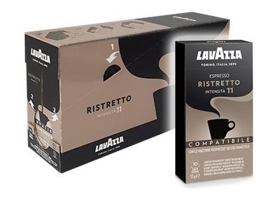 100 capsules de café NESPRESSO compatibles LAVAZZA RISTRETTO dosettes capsules de café
