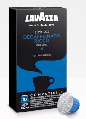 300 capsules de café NESPRESSO compatibles NESPRESSO DECAFFEINATED RICH LAVAZZA