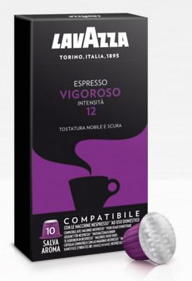 100 capsules de café LAVAZZA VIGOROSO mélange espresso compatible avec les dosettes Nespresso