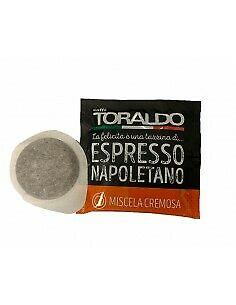 600 dosettes de papier filtre ESE 44mm Caffè Toraldo Cremoso Cremosa blend