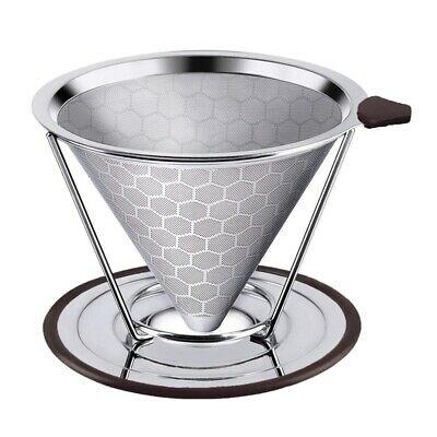 Filtre à café en acier inoxydable de haute qualité, réutilisable pour Y3V5