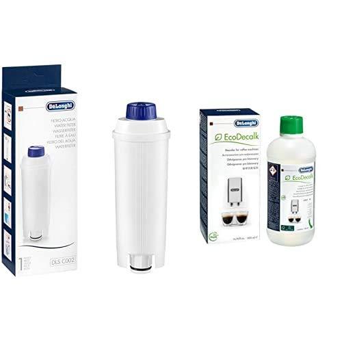 De'Longhi DLSC002 Filtre adoucisseur Ecam et détartrant naturel ECODECALK, 500 ml