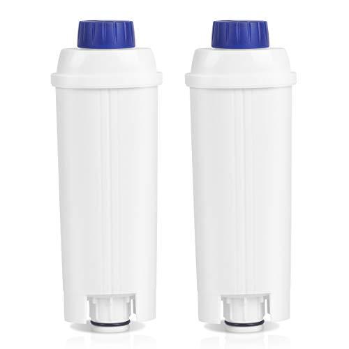 Filtre adoucisseur HEIMUNI 2 pièces pour machine à café DeLonghi DLSC002, filtre à eau pour machine à café adapté pour De'Longhi ECAM, ESAM, ETAM, BCO