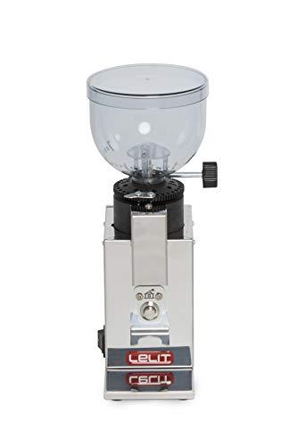 Moulin à café Lelit PL043MMI, 150 W, 0,25 kg, acier inoxydable, argent