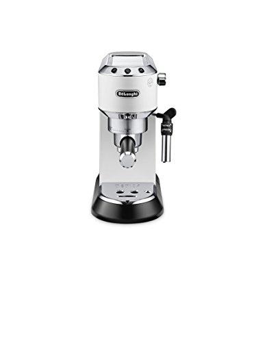 De'Longhi Dedica EC685.W Machine à expresso et cappuccino manuelle, café en poudre ou pointes E.S.E., 1350 W, blanc