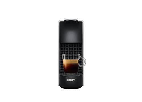Krups Nespresso XN110E Essenza Mini machine à café à capsules compacte (1260 watts, pression de pompe 19 bars, arrêt automatique), argent