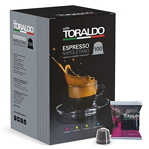 Café napolitain Toraldo Espresso, paquet de 100 capsules