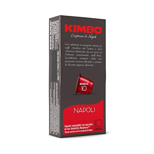 Kimbo Capsules Napoli Compatible Nespresso, Intensité 10/12, 10 Boîtes de 10 Capsules (Total 100 Capsules)