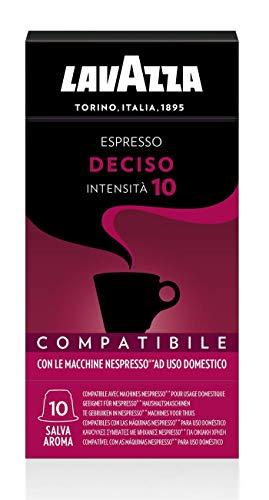 Lavazza 100 capsules compatibles Nespresso, Espresso Deciso, 10 paquets de 10 capsules