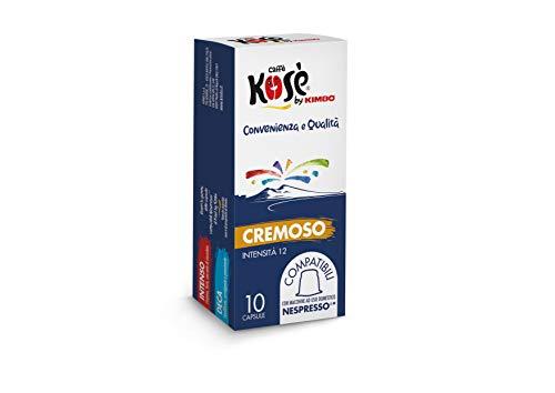 Kosè by Kimbo Capsules crémeuses compatibles Nespresso, 10 boîtes de 10 capsules