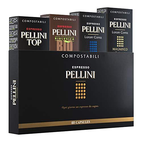 Pellini Caffè - Espresso Pellini Multigusto Mix (Boîte cadeau de 40 capsules), compatible Nespresso