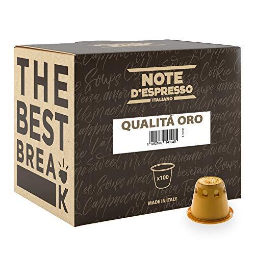 Note D'Espresso, Capsules, Compatible avec Nespresso System, Gold Quality Coffee, 100 caps