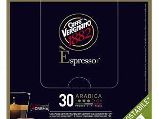 Caffè Vergnano 1882 Èspresso Capsules de café compostables compatibles Nespresso, Arabica - 8 paquets de 30 capsules (total 240)