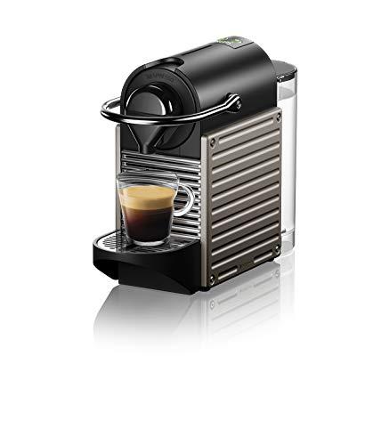Krups Nespresso XN304TK Pixie - Machine à café expresso, recettes programmables, 1260 W, Titan, 0,7 litre