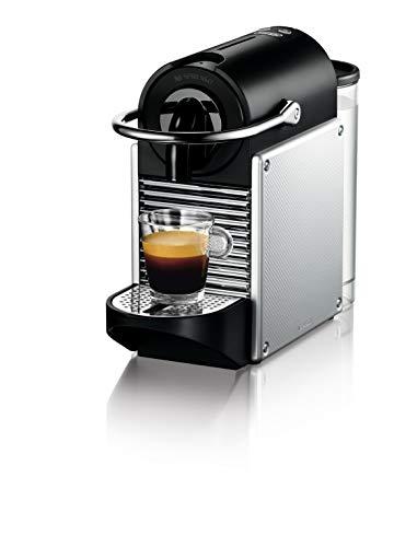 Machine à expresso Nespresso EN 124.S Pixie EN124.S par De'Longhi, 1260 W, plastique, argent, 0,7 litre, métal