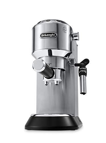 De Longhi Dedica EC685.M Macchina da Caffè Espresso Manuale e Cappuccino, Caffè in Polvere o in Cialde E.S.E., 15 bar, 1350 W, Argento