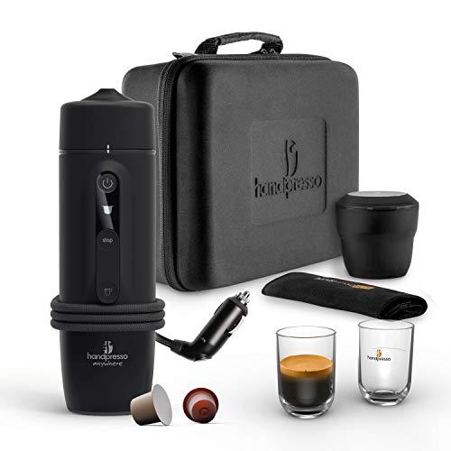 HANDPRESSO - New Handpresso Auto Capsule Set 21021 - Ensemble de machine à café expresso, cafetière portable pour voitures et camions Capsule 12 V 24 V compatible Nespresso *