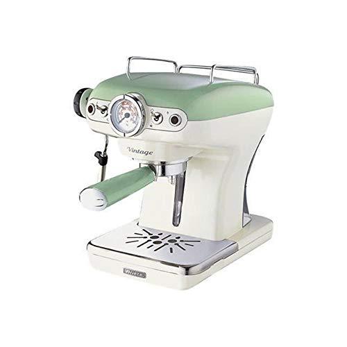 Ariete 1389 Caffè Espresso Vintage - Macchina per caffè Espresso per polvere o cialda ESE, 15 bar, 850W, Verde pastello