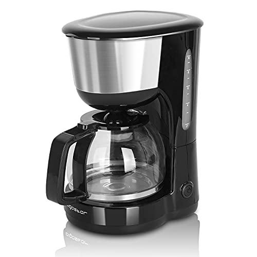 Aigostar Chocolate 30HIK - Machine à café 10 tasses, Machine à café américaine 1000 Watts, Cafetière, Firltro réutilisable, Capacité de 1,25 L, Sans FBA, Couleur noire, Design exclusif