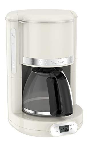 Moulinex FG381 FCM Soleil, machine à café américaine, capacité de 1,25 L jusqu'à 15 tasses à café, porte-filtre rotatif, système anti-goutte, arrêt automatique, maintien au chaud