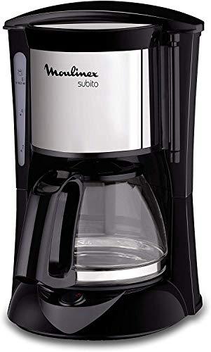 Moulinex FG150813 Macchina da caffè Libera installazione Semi Automatica con Filtro, 6 Tazze, Nero