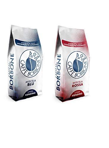 Grains de café Bourbon 2 kg Vending Line Mélange de qualité rouge et bleu