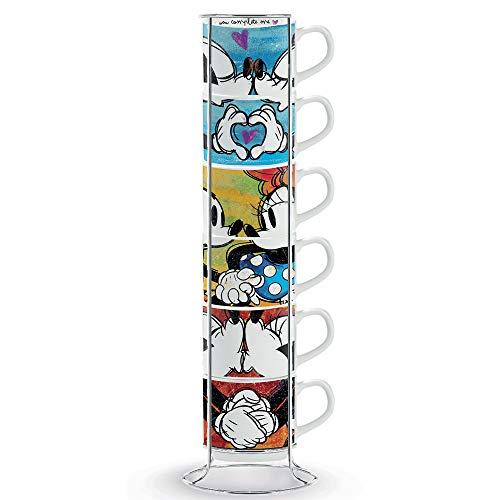 Tasses à expresso EGAN PWM02I / 6XL, porcelaine, multicolore, 6 unités