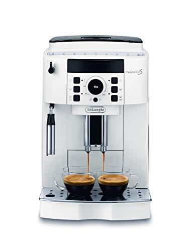 De Longhi Magnifica S ECAM21.110.W Machine à café automatique pour expresso et cappuccino, grains de café ou poudre, 1450 W, blanc