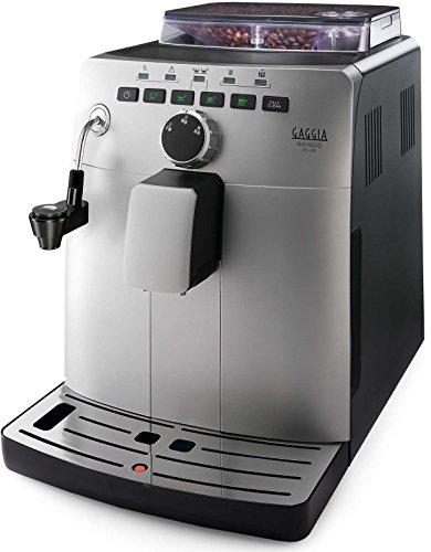 Gaggia HD8749 11 Naviglio Deluxe - Machine à café automatique, pour expresso et cappuccino, grains de café, 1,5 L, 15 bars, 1850 W, argent