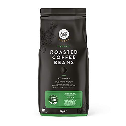Marchio Amazon - Happy Belly Select Caffè Biologico Torrefatto in Grani - 2 kg (2 Pacchi x 1 kg)