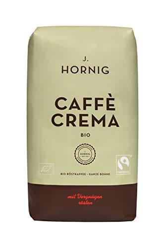 J. Hornig Caffe in Grani, Espresso, Caffe Crema Bio, 1 kg, biologico e certificato fairtrade