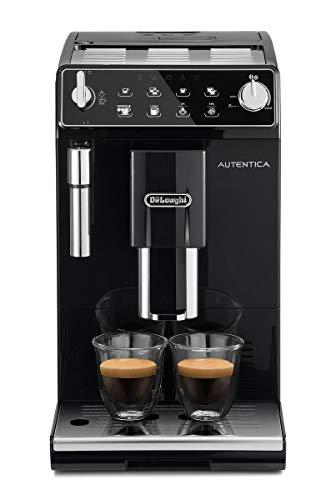 De Longhi Autentica ETAM29.510.B Macchina da Caffè Automatica per Espresso e Cappuccino, Caffè in Grani o in Polvere, 1450 W, Nero