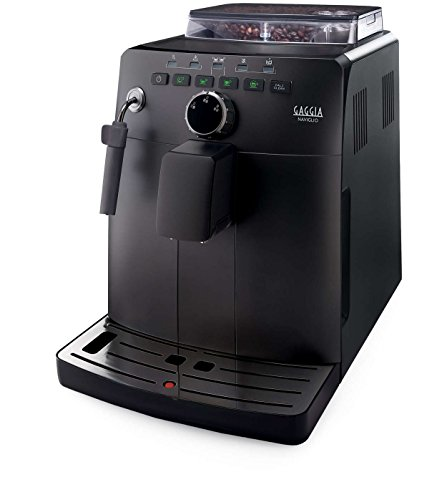 Gaggia HD8749 01 Naviglio - Macchina da Caffè Automatica, per Espresso e Cappuccino, Caffè in Grani, 15 bar, 1850W, Nero