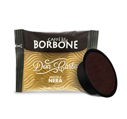 Café Bourbon Don Carlo, Mélange Noir - 100 Capsules, Compatible Lavazza A Modo Mio