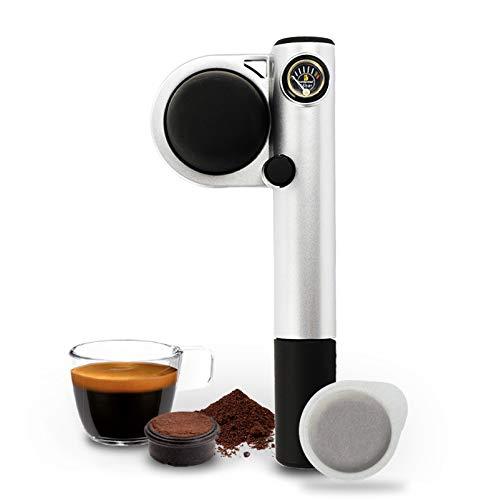 Handpresso Pump Argento 48256 Macchina espresso portatile e manuale per cialde ESE o caffè sciolto