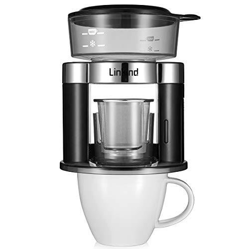 Machine à café rotative Linkind Verser Over, filtre à café automatique, filtre portable permanent en acier inoxydable
