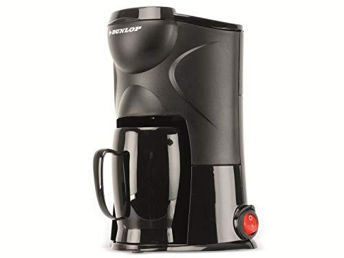 Dunlop - Macchina da caffè da 1 tazza, 170 W, con filtro permanente, ideale per viaggi, collegamento all accendisigari, per auto, camion, camper, con interruttore on off