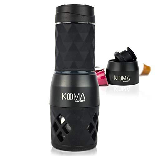 Macchina da caffè portatile KOOMA Espresso, per capsule compatibili NS e caffè macinato, 19 barre di pressione manuali, ideali per escursioni all aperto, campeggio o lavoro