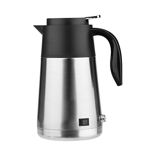 12   24V 1300ml Bollitore elettrico per auto Tazze in acciaio inossidabile Caldaia Riscaldamento Acqua bollente Tazza Tè Caffè caldo Latte Tazza da bere con interruttore luminoso Viaggio portatile