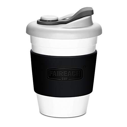 Tasse à café de voyage 340 ml / 12 oz, tasse Faireach Coffee To Go réutilisable avec couvercle à emporter, tasses écologiques sans BPA, lave-vaisselle et micro-ondes, noir